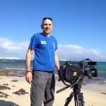"""Markus Prumbaum, Dreharbeiten für die Doku """"Auf der perfekten Welle."""" Fuerteventura November 2014"""