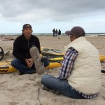 "Interview mit Windsurf-Legende Robby Naish für die Doku ""Auf der perfekten Welle."" Sylt, September 2014"