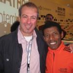 Haile Gebrselassie, äthiopische Lauflegende gewann 1996 in Atlanta und 2000 in Sydney olympisches Gold über die 10 000 Meter Distanz. Insgesamt 9 WM Titel und 26 Weltrekorde. Berlin, Oktober 2011
