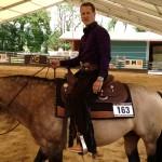 Schumi kurz vor seinem Auftritt beim hauseigenen Reining-Turnier. Dreharbeiten auf seiner Ranch. Givrins/Schweiz, Juli 2013
