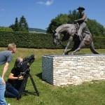Dreharbeiten auf der Ranch von Corinna und Michael Schumacher. Givrins/Schweiz, Juli 2013