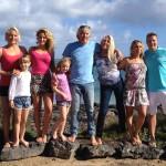 """Die Surfer-Familie Hönscheid. Dreharbeiten für die 45 Minuten Doku """"Auf der perfekten Welle"""" für ZDFInfo. Fuerteventura, November 2014"""