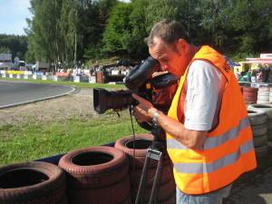 Clemens Prumbaum, Dreharbeiten in Schumis Wohnzimmer. 50 Jahre Kartbahn in Kerpen. Juli 2012