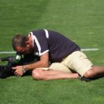 Clemens Prumbaum, Dreharbeiten im Trainingslager der deutschen Fußball-Nationalmannschaft. Mallorca, Mai 2008
