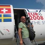 Markus Prumbaum, Reisetag bei der Fußball-Europameisterschaft 2008 in Österreich und der Schweiz.