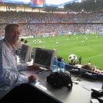 Mein Reporterplatz bei der Fußball-Europameisterschaft in Österreich und der Schweiz. Juni 2008