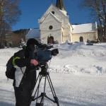 """Olli Behrens, Dreharbeiten über den """"Monsterbakken."""" Auf dieser Skiflugschanze sind Flüge über 250 Meter möglich. Vickersund/Norwegen, Januar 2011"""