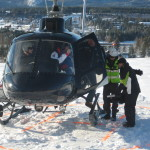 Olli Behrens, Dreharbeiten aus dem Heli. Flug über den Monsterbakken (Skiflugschanze) von Vickersund/Norwegen. Januar 2011