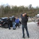 Dreharbeiten Doku über Jutta Kleinschmidt, Siegerin der Rallye Dakar 2001 für ServusTV