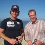 Björn Dunkerbeck, 41 facher Windsurf- Weltmeister. Dunkerbeck gilt neben Robby Naish als einer der beiden Ikonen im Windsurfsport. Sylt, September 2011