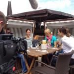 Dreharbeiten Portrait Sabrina Mockenhaupt, Deutschlands beste Langstrecken-Läuferin mit bisher insgesamt 26 deutschen Meistertiteln. Sylt, Juni 2012