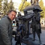 Olli Behrens, Dreharbeiten für die Postbank in Amsterdam. November 2014